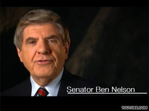 Liberal groups have targeted Democrat Ben Nelson of Nebraska over his views on health care reform.