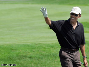 Burton also revealed Obama is set to play golf later in the day.