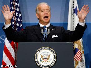 Gaffe-prone Biden avoids weighing in on Obama verbal slip.