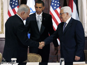 U.S. President Barack Obama on Tuesday prodded Israel and the Palestinian Authority to get moving on talks aimed at a permanent resolution of their decades-old conflict.