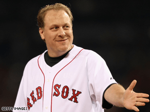Former Boston Red Sox pitcher Curt Schilling endorsed Republican Scott Brown for Massachusetts senator Monday.