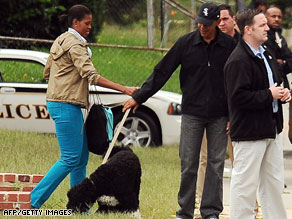 The first couple cheered on daughter, Malia at her soccer game Saturday.