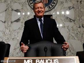 Sen. Baucus was among the five Democrats who voted against adding a public option to the health care bill.