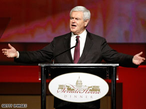 Newt Gingrich is being attacked by the conservative Club for Growth.