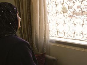 Hana Al Badree in her temporary home in Amman, Jordan.