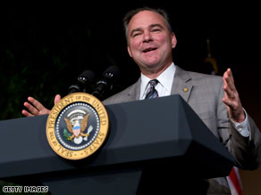 DNC Chairman Tim Kaine made his case Friday for using a budget maneuver known reconciliation to pass health care reform.