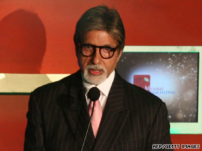Amitabh Bachchan receives the Lifetime Achievement Award at the 11th Mumbai Film Festival in 2009.