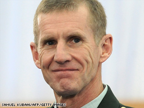 General Stanley McChrystal is the U.S. Military commander in Afghanistan.