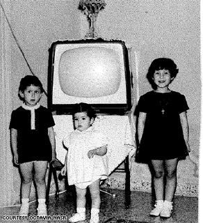 Octavia Nasr, center, circa 1967.