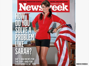 Palin is not happy with the latest Newsweek cover.
