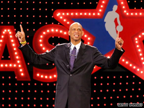 Basketball legend Kareem Abdul-Jabbar is spreading his educational message about cancer.