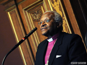 Archbishop Desmond Tutu healing the world spiritually and environmentally.
