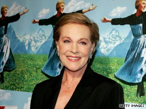 Julie Andrews celebrating over 50 years in musical theatre.