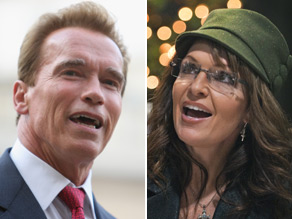 Sarah Palin is hitting back at California Gov. Arnold Schwarzenegger's dig at the former Alaska governor over the issue of climate change.