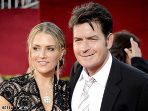 Charlie Sheen's wife told police the actor pinned her on a bed, put a knife to her throat and threatened to kill her in a Christmas Day fight.