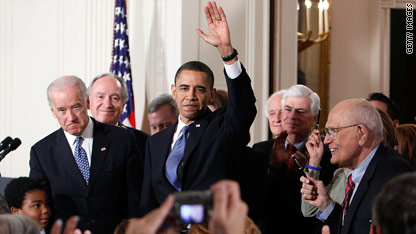President Obama signed sweeping health care reform legislation into law Tuesday at the White House.