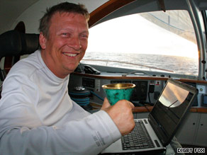 Geoff Holt became the first quadriplegic to sail across the Atlantic.