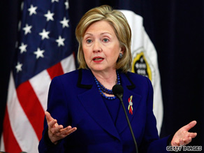 Secretary of State Clinton said Tuesday that she 'deeply resents' of the U.S. aid mission in Haiti.