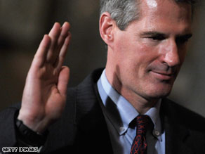Senator Scott Brown added a spokesman to his staff Thursday.