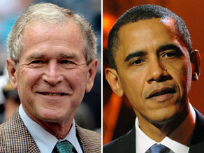 More Americans blame the Bush administration for the nation's economic troubles than the Obama administration, according to a new poll.