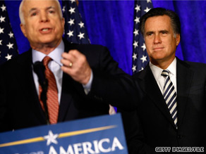 Sen. John McCain picked up an endorsement Tuesday from a past rival, former Massachusetts Gov. Mitt Romney.