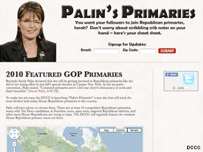 The DCCC launched a tongue-in-cheek Web site Tuesday offering 'a guide' for Sarah Palin.