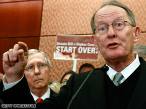 Sen. Lamar Alexander urged Democrats to scrap current health care legislation.