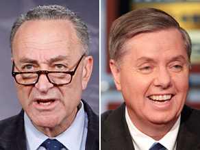 Sens. Chuck Schumer (left) and Lindsey Graham (right) are crafting immigration reform legislation.