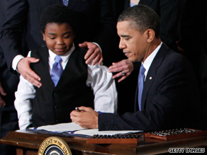 President Obama used 22 pens to sign the historic health care reform bill pushed by Democrats for the last year.