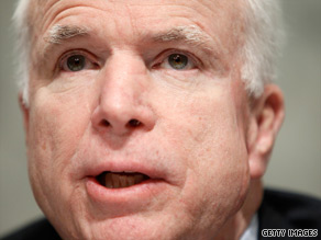 Sen. John McCain has introduced an amendment striking 'sweetheart deals' for Democrats in return for their votes.