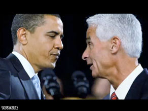Marco Rubio's new ad reminds Republicans of Gov. Charlie Crist's support for President Obama's stimulus package.