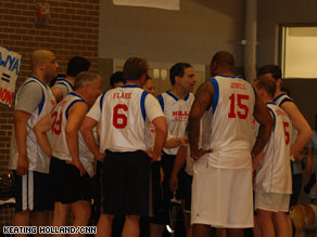Several members of Congress took the court Wednesday for a charity basketball game.