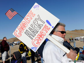 The hometown of Senate Majority Leader Harry Reid is the site of a Tea Party rally Saturday.