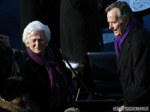Former first lady Barbara Bush was admitted Saturday to a hospital in Texas for routine tests, a spokeswoman said.