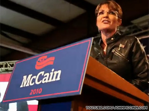 Sen. McCain's re-election campaign released a fast moving Web video Monday that features his former running mate Sarah Palin.