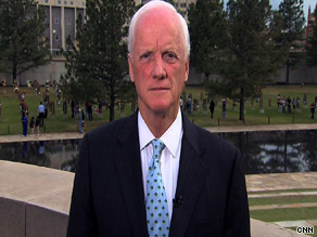 'As long as you say, I'm angry, but I'm not violent, that's okay, former Oklahoma Gov. Frank Keating said Monday on CNN.