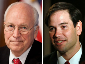 Former Vice President Dick Cheney on Thursday endorsed Florida Senate candidate Marco Rubio.