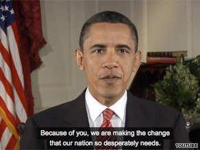 President Obama is urging his political supporters to begin preparing for the 2010 midterm elections in a new video message.