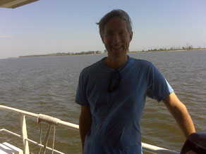 Gary Tuchman on his way to the Chandeleur Islands, which may be the first place oil has hit land.