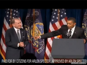 Sen. Specter's new ad features the president as he praises the former Republican.