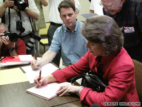Sen. Blanche Lincoln was able to cast a provisional ballot Tuesday.