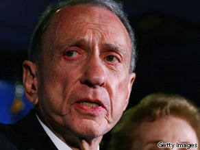 Sen. Arlen Specter, a former Republican, lost to Rep. Joe Sestak in Pennsylvania's Democratic Senate primary.