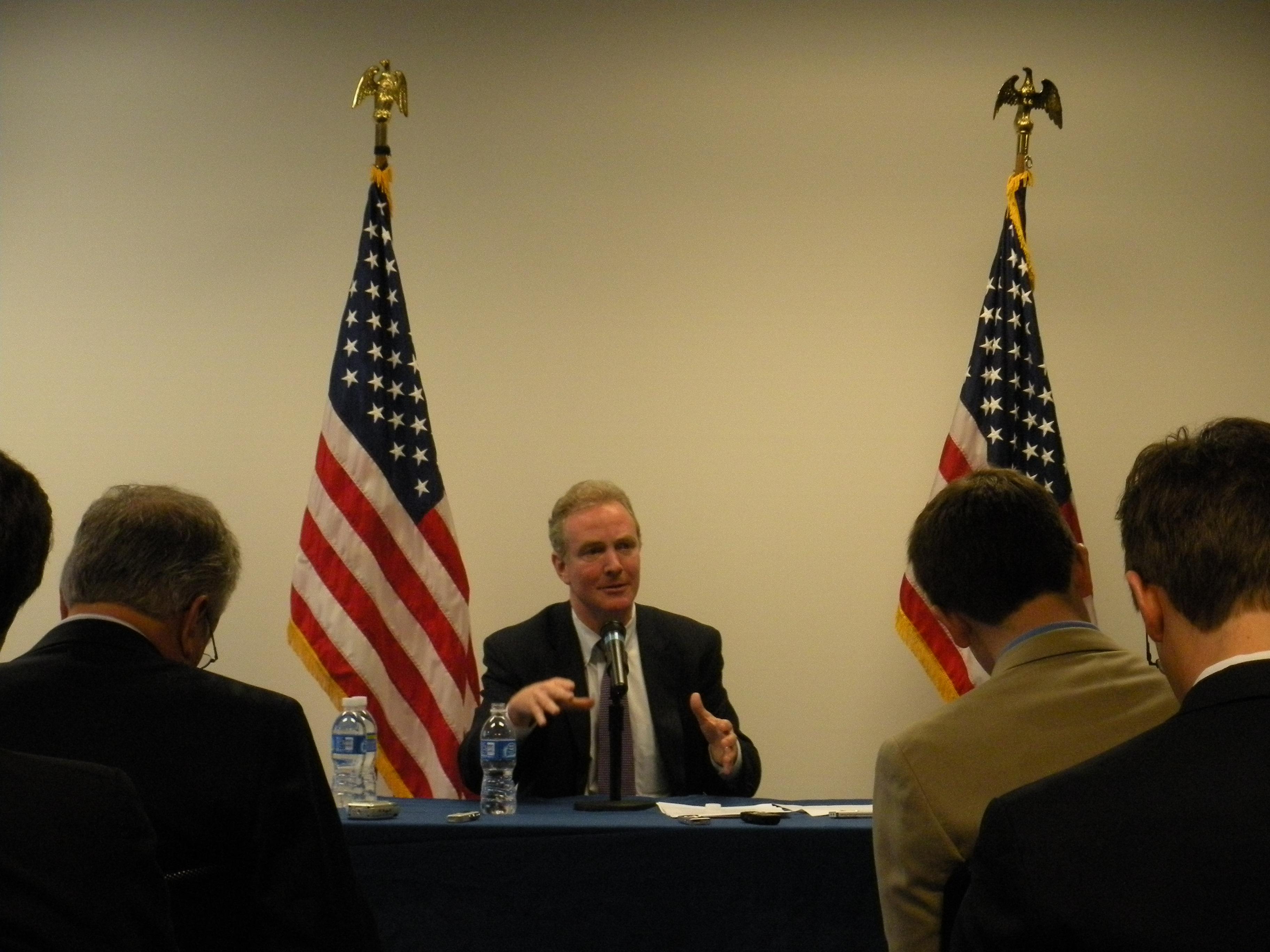 DCCC Chair Rep. Chris Van Hollen talks to reporters about Dem. win in Pennsylvania special election.