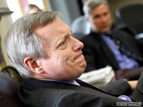 Sen. Dick Durbin said Tuesday that Rep. Joe Sestak should fully explain whether Obama administration officials pressed him to drop his Democratic primary challenge to Sen. Arlen Specter in exchange for a job.