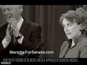 Sen. Blanche Lincoln's new campaign ad features former President Bill Clinton.