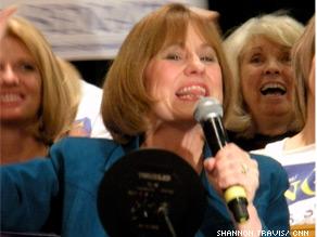Sharron Angle celebrates winning Nevada's Republican Senate primary.