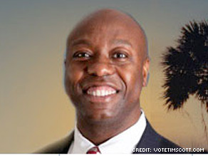 State Rep. Tim Scott, will face a runoff election against the son of former Sen. Strom Thurmond on June 22.