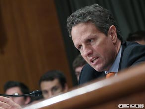 Treasury Secretary Tim Geithner defended the government's bailout of the financial system on Tuesday.