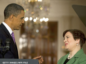 The President hosted Supreme Court nominee Elena Kagan in the Oval Office Monday morning.