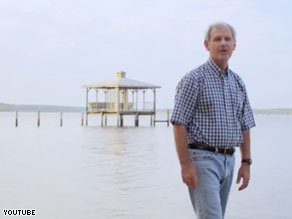 Bradley Byrne's campaign ad criticizes both President Obama and BP.